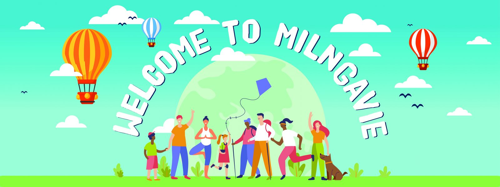 welcome to Milngavie, start of the West Highland Way and other walks in Central Scotland