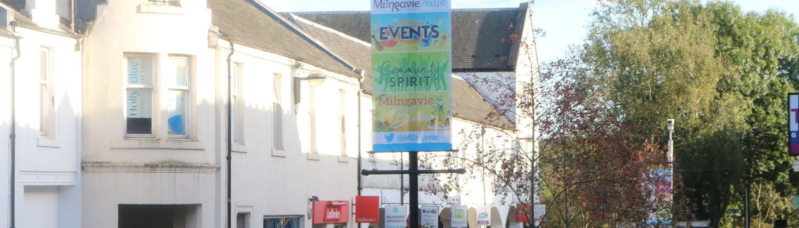Milngavie Main Street full of quality retailers