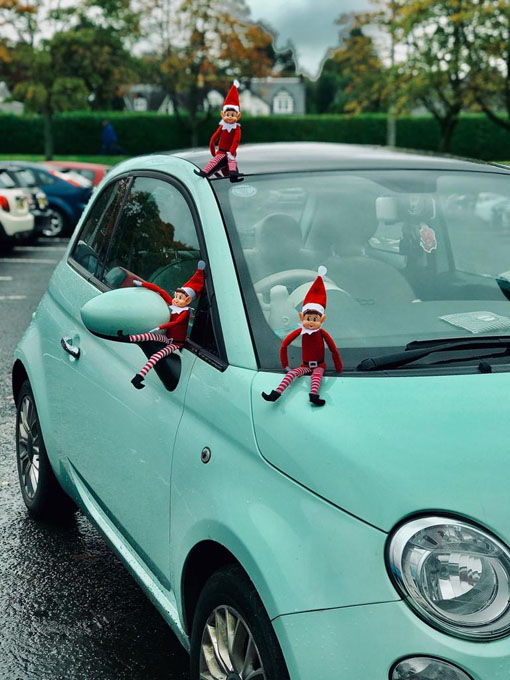 Milngavie elves engaging in car repairs
