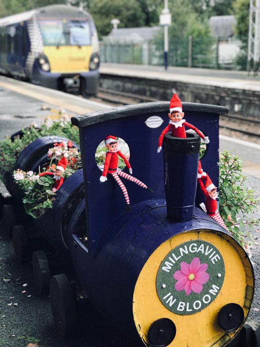 Milngavie Elves at the train station