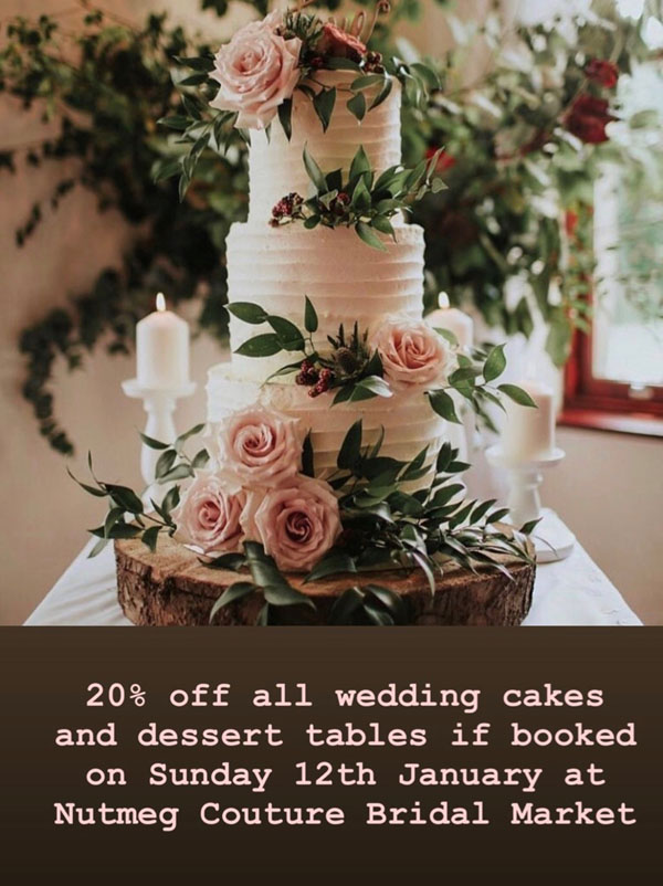 Honeybee Bakery OFFER at Nutmeg Couture Bridal