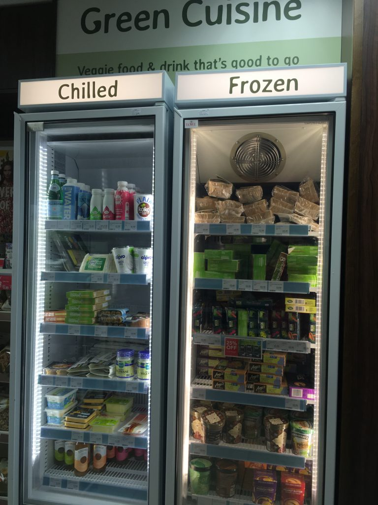 Holland and Barrett vegan chilled and frozen food as part of Veganuary in Milngavie