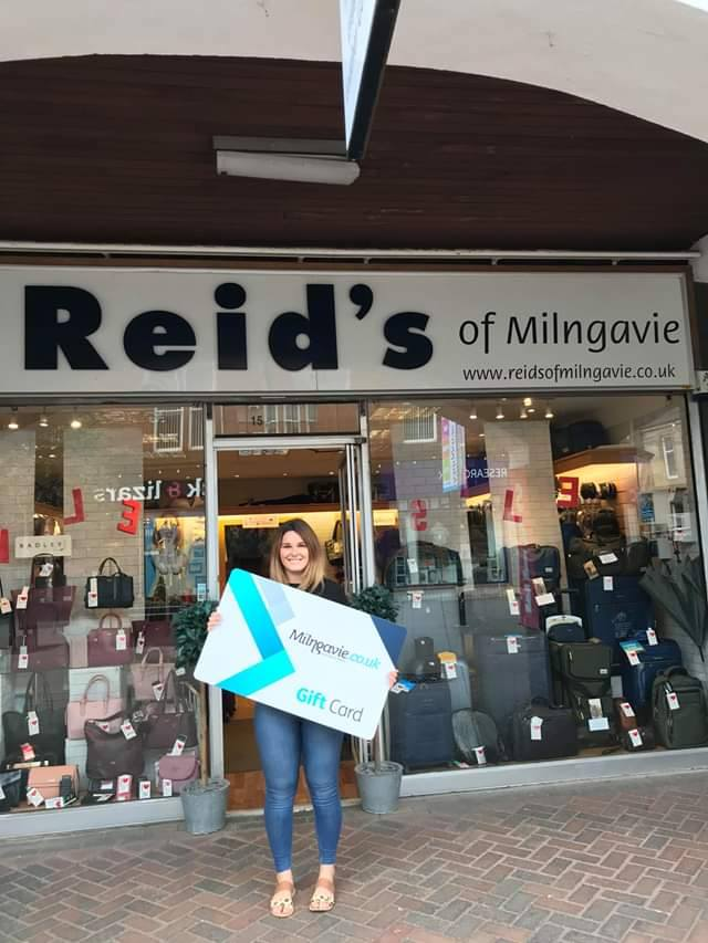 Reids of Milngavie is a local outlet who sell the Milngavie gift card