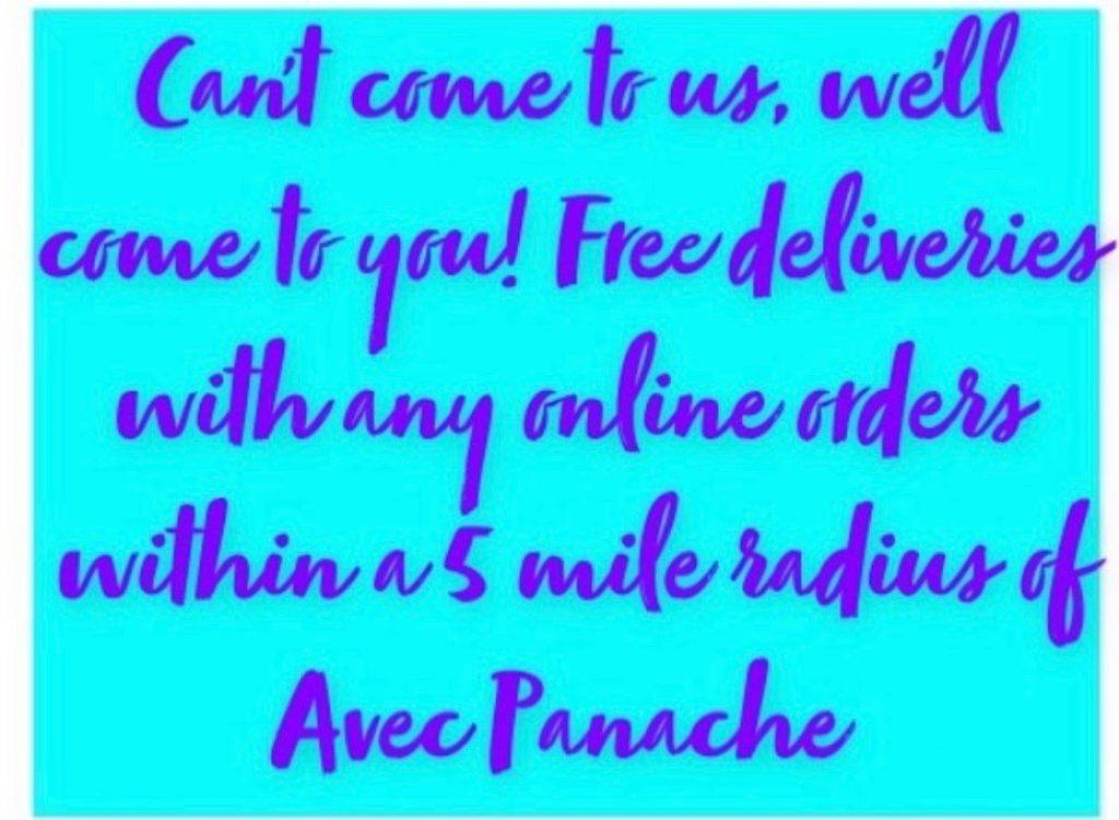 Avec Panache online orders