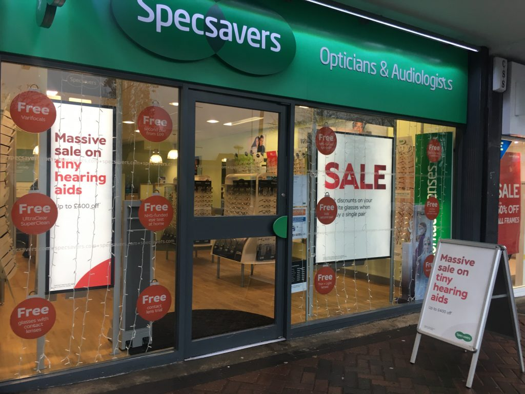 Specsavers shopfront Milngavie