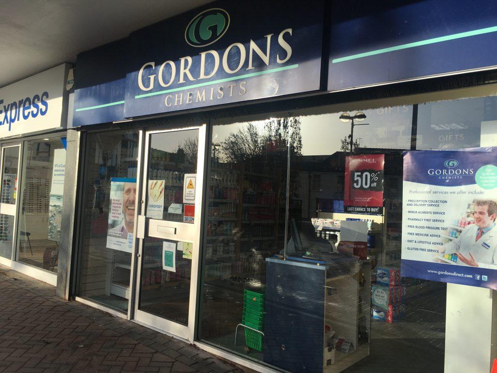 Gordons Chemist opening times
