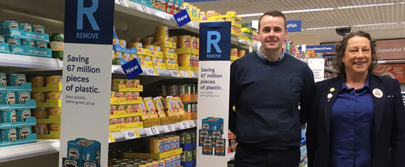 Tesco Milngavie begins removal of plastic  multipacks