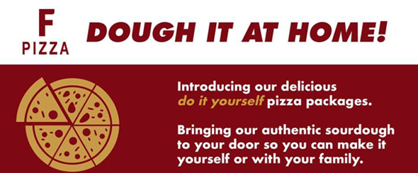 Dough It Yourself Pizza Kit from F Pizza in Milngavie featured in the ScotlandLovesLocal campaign