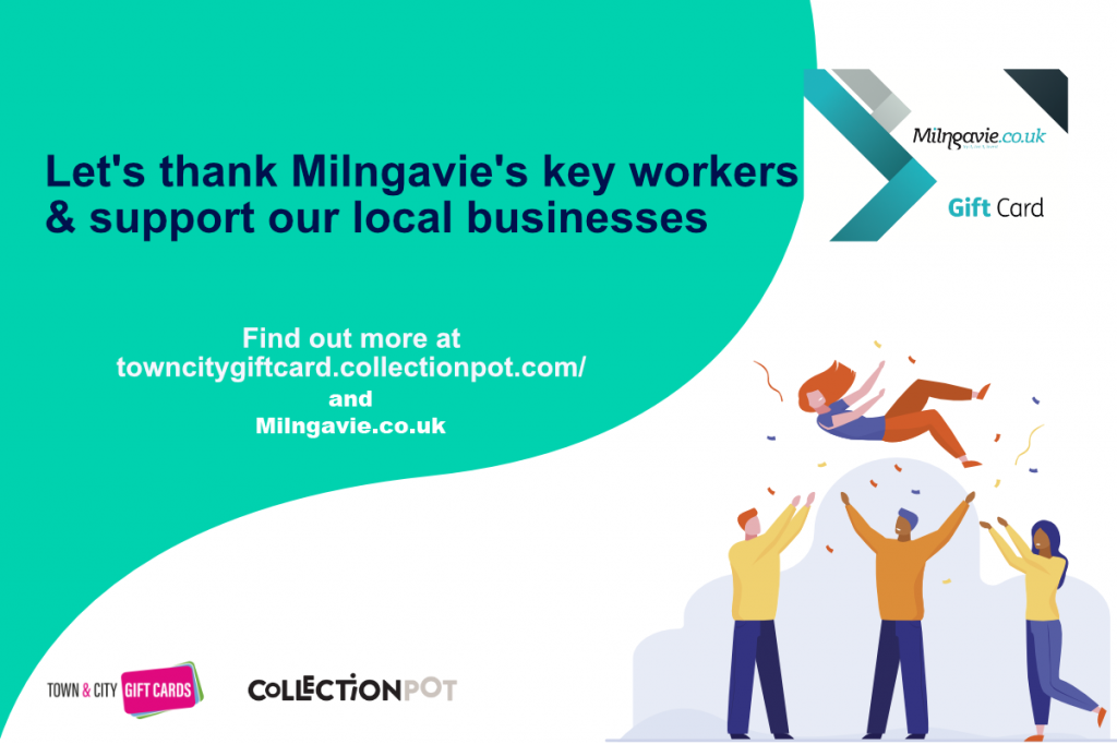 Milngavie.co.uk Collection Pot to support key workers and local businesses