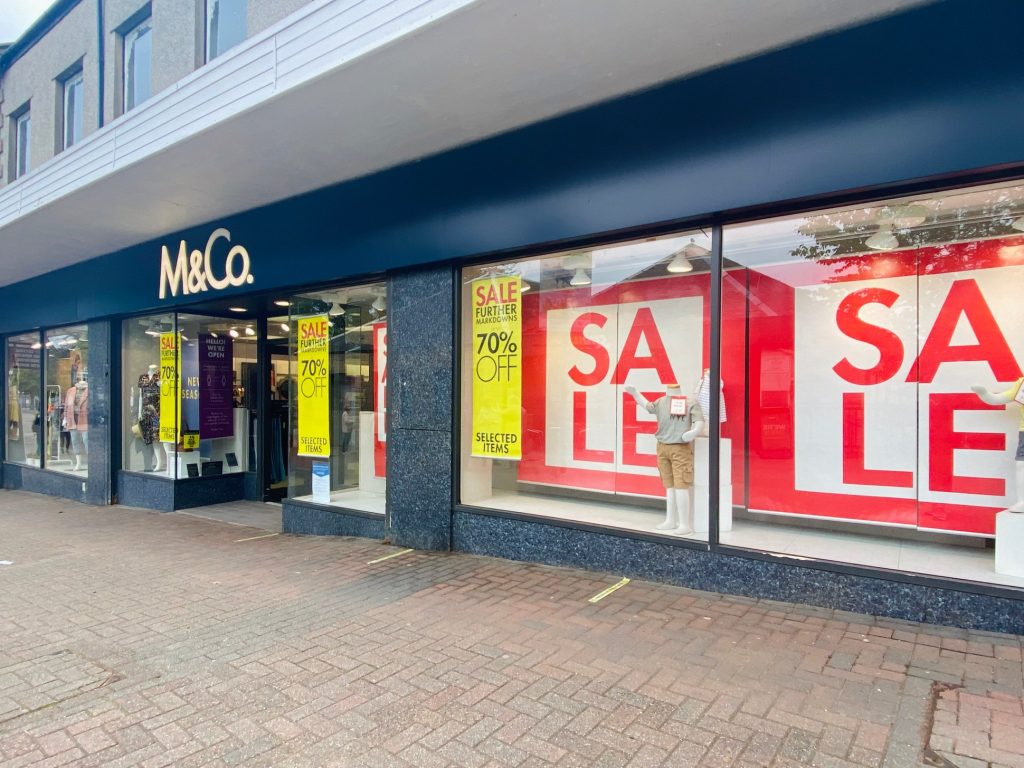 M and Co store in Milngavie