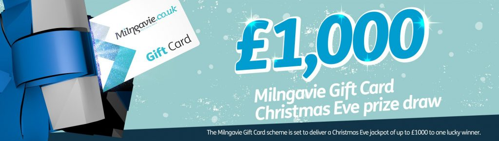 Milngavie Gift Card up to £1000 prize draw