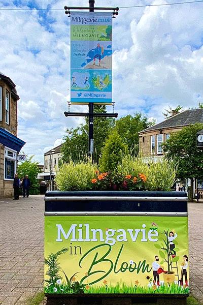 Milngavie high street banners